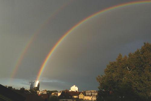 double-rainbow-61772_640